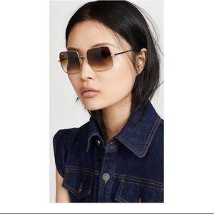 NEW square Ray Ban sunglasses-gold (new season)